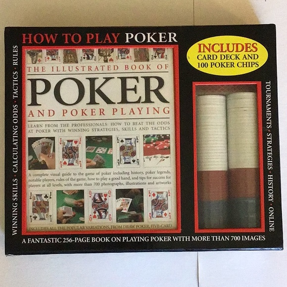 How to play poker, including book chips and cards.
